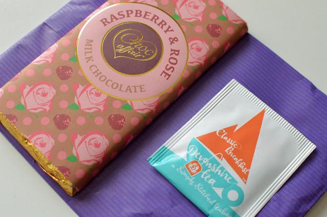 Chocolate and teabag gift