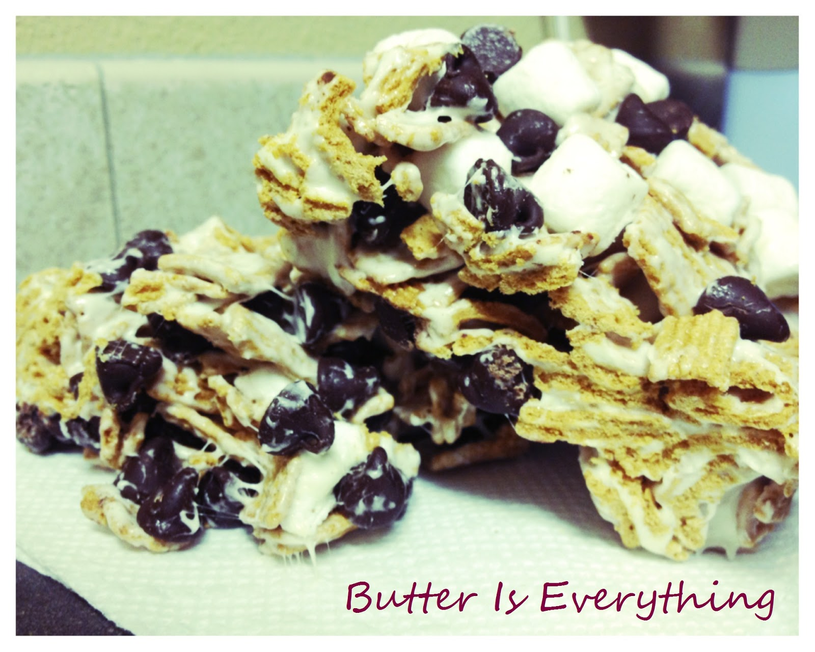 Butter is Everything: S'mores Cereal Bars