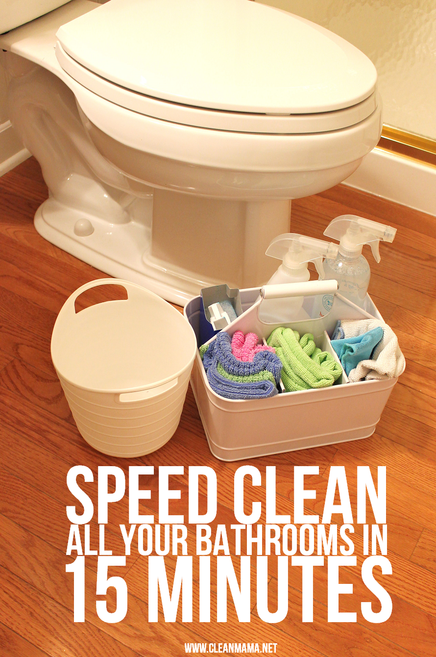 Speed Clean All Your Bathrooms In 15 Minutes