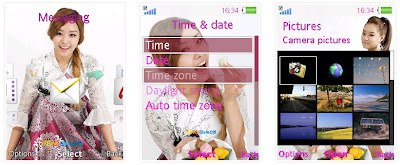 智恩@韓國組合Secret SonyEricsson手機主題for Elm/Hazel/Yari/W20﹝240x320﹞