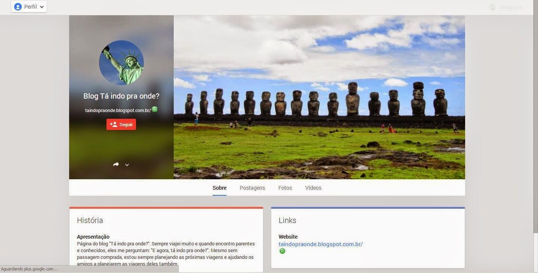 Google+ do blog Tá indo pra onde?
