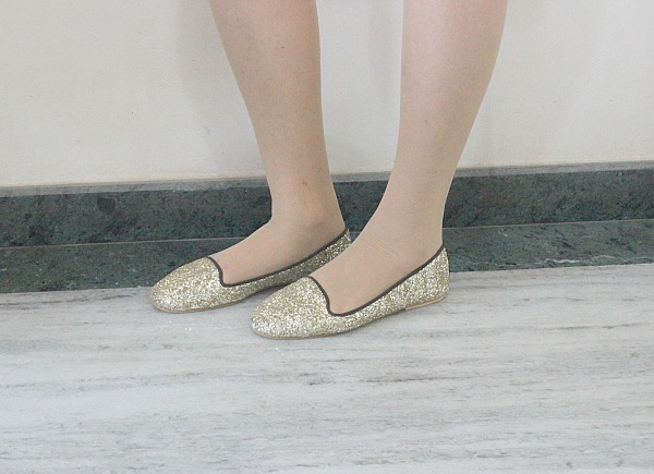 Glittery loafers