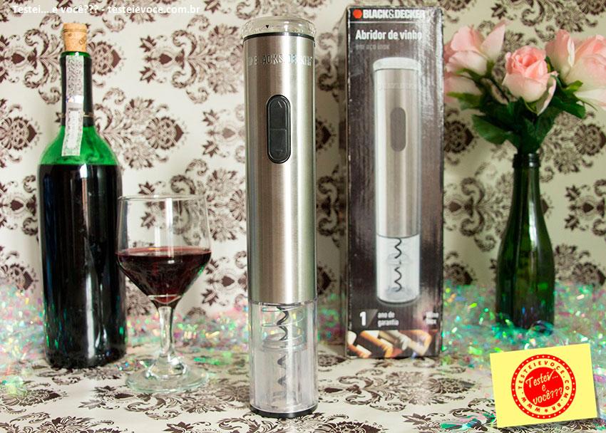 Abridor de Vinho Elétrico Wine Inox - Black Decker