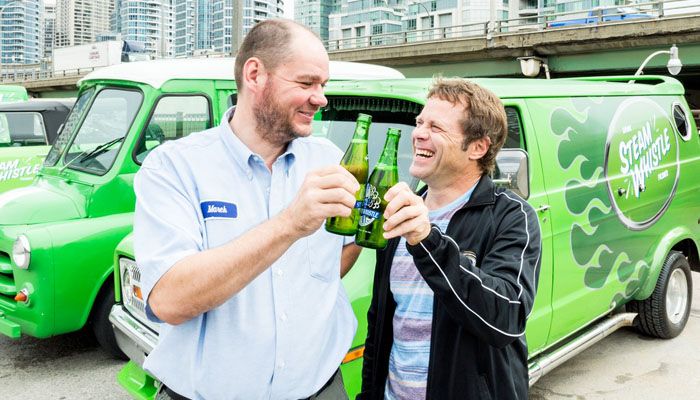 Greg Taylor spreading the Steam Whistle culture