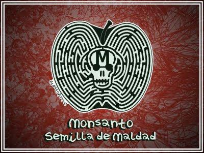 Monsanto, semilal de maldad, caricatura por fiestoforo