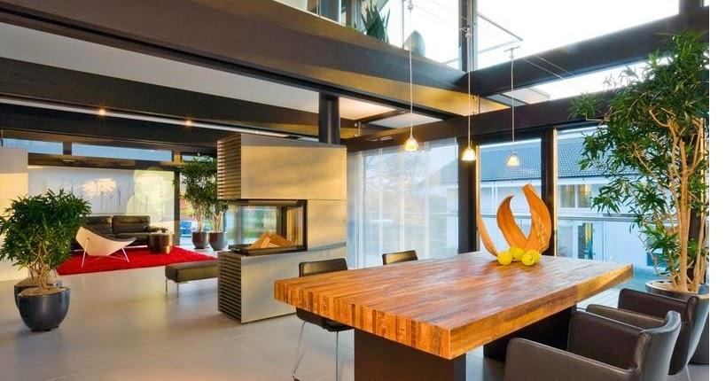 contoh desain ruang makan 3 perabot pembatas ruang