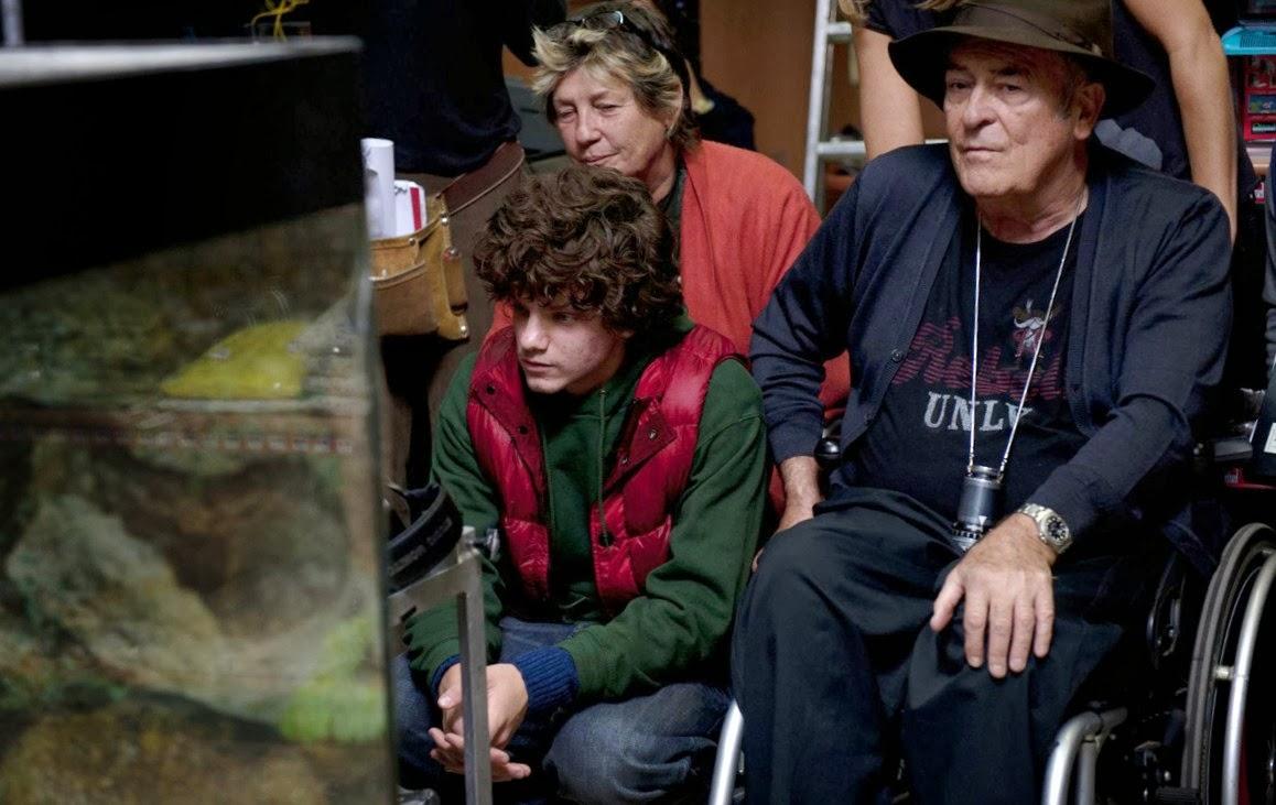 Bernardo Bertolucci sur le tournage de Moi et toi (Io e te)