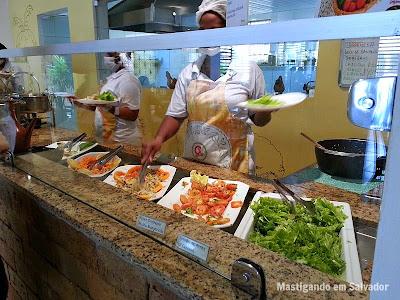 Viva o Grão Restaurante Natural: Balcão do buffet