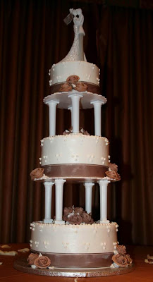 Three wedding cakes