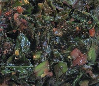 Sweet & Spicy Beet Greens with Soy-Ginger Sauce