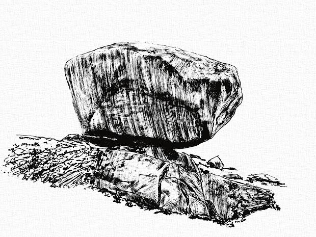 secret landscapes propped boulders