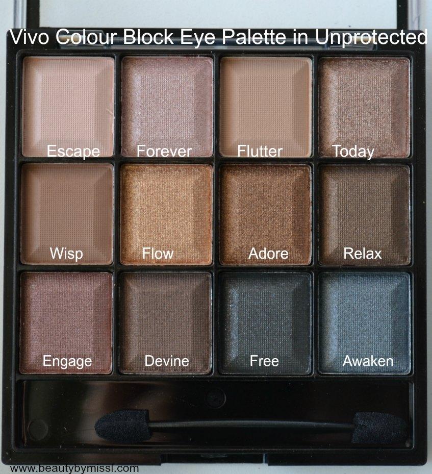 Vivo Cosmetics Unprotected Eyeshadow Palette
