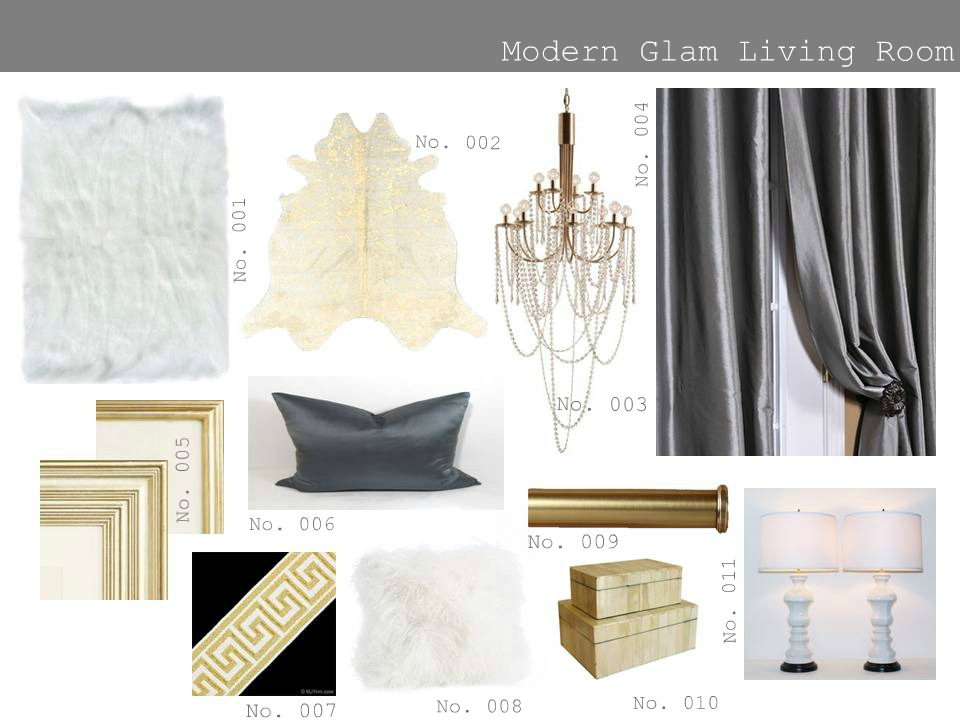 The modern sophisticate edesign modern glam living room for Glam modern living room