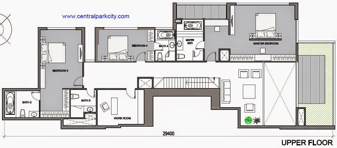 Vinhomes Central Park Penthouse - Căn số 02 tầng 45-46 Upper Floor - 4PN - 411.6m2