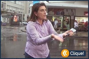 Jornalista da Globo esculhamba equipe e depois é xingada por casal de populares