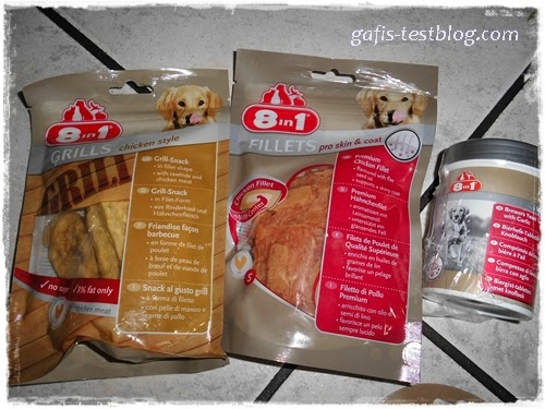 8in1 Grills Chicken Style, 8in1 Fillets Pro Skin&Coat, 8in1 BierhefeTabletten