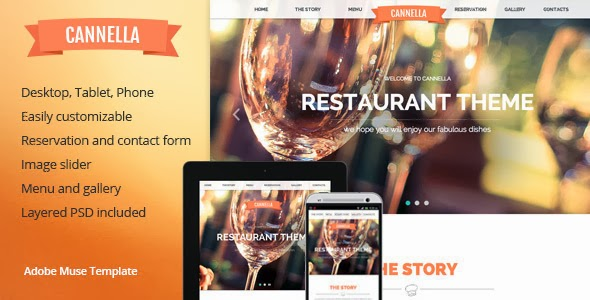 Restaurant and Cafe Muse template