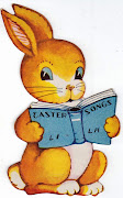 Something sweet! easter bunny with song book