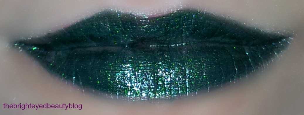 Lime Crime Serpentina Lipstick from the Alchemy Collection swatch