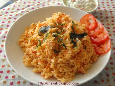 tomato rice, tomato flavored rice, bhatache prakar, types of rice, rice recipes, basmati rice