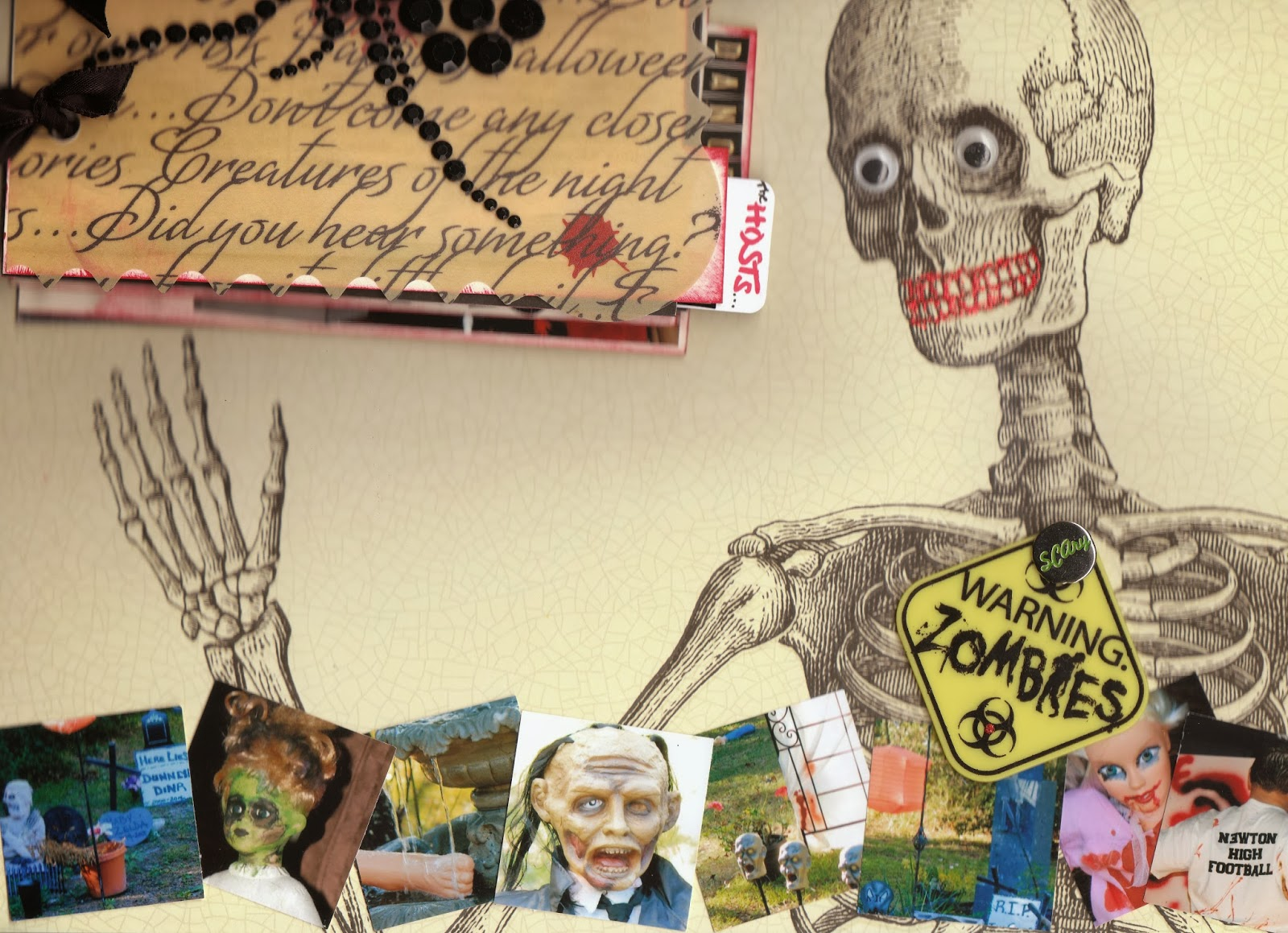 Zombie scrapbook ideas