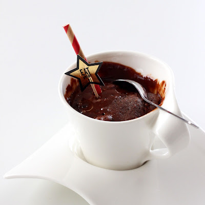 Illustration mug cake chocolat