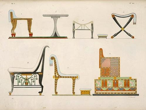 Edad antigua egipto grecia y roma historia del mueble for Caracteristicas del mobiliario
