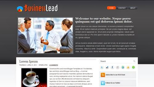 BusinessLead - Free Blogger Template