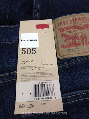 Levis Strauss Men's 505 Regular Fit Jeans: stylish yet comfortable