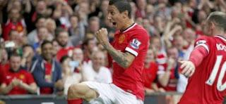 Premier but d'Angel Di Maria avec Manchester United