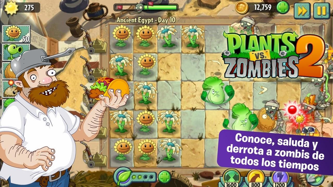 Plants vs. Zombies 2 para Android e iOS, Vuelven las guerras entre plantas y zombies
