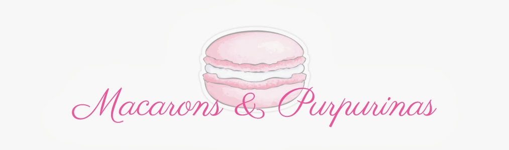 Macarons & Purpurinas