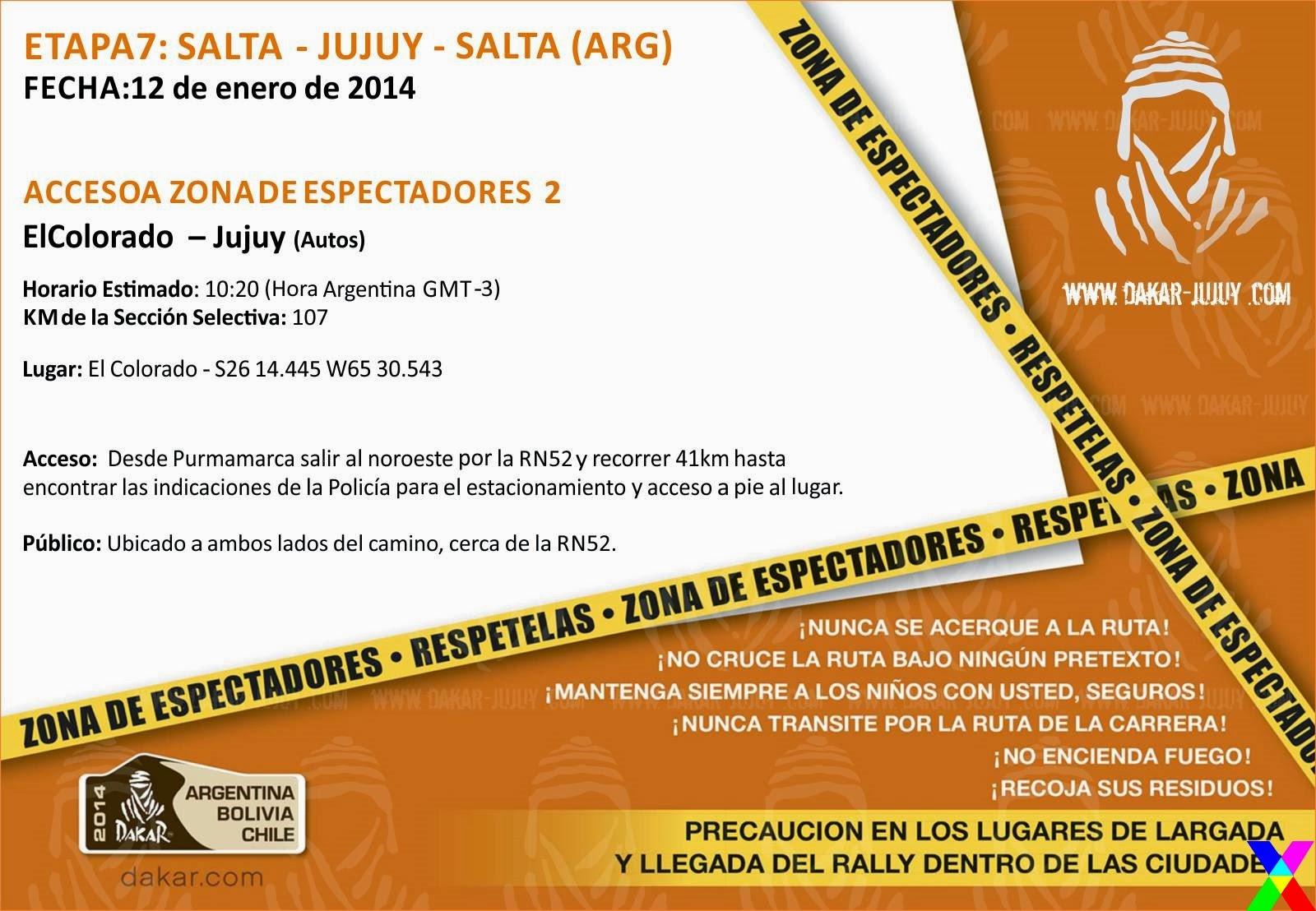 Zona de Espectadores 2 Jujuy - Dakar 2014