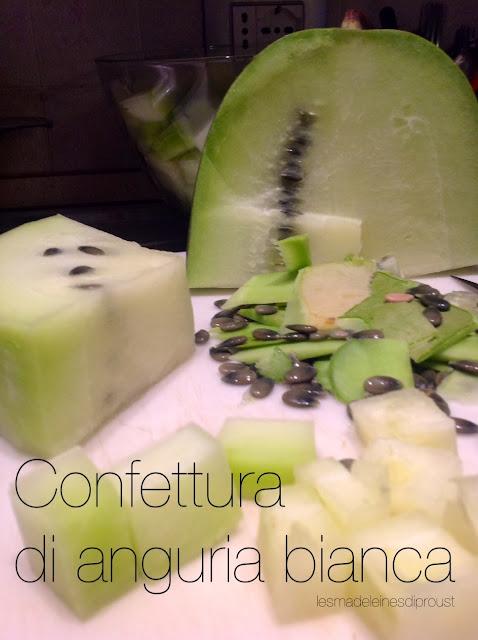 confettura di anguria bianca.