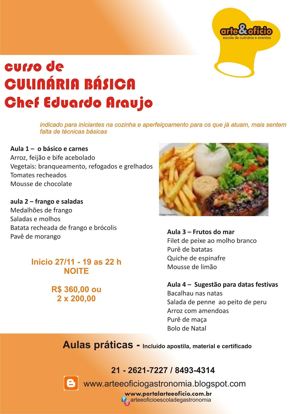 Arte e of cio curso de culin ria b sica for Curso de cocina basica pdf