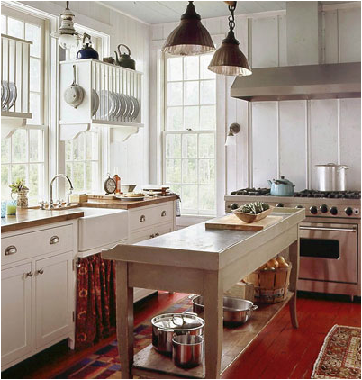 Cottage kitchen home design ideas for Cottage kitchen designs