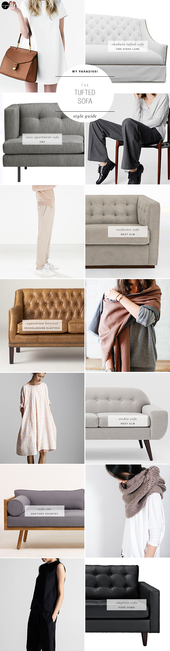 The tufted sofa style guide   My Paradissi