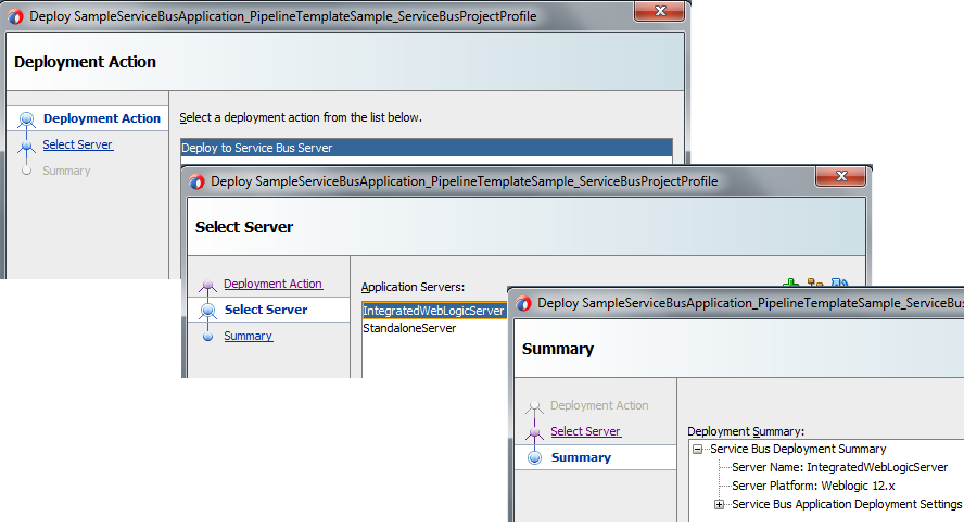 OSB 12c Pipeline Template Deploy To Server
