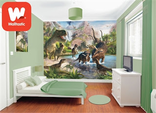 Dinosaur Land 12 Panel Wall Mural