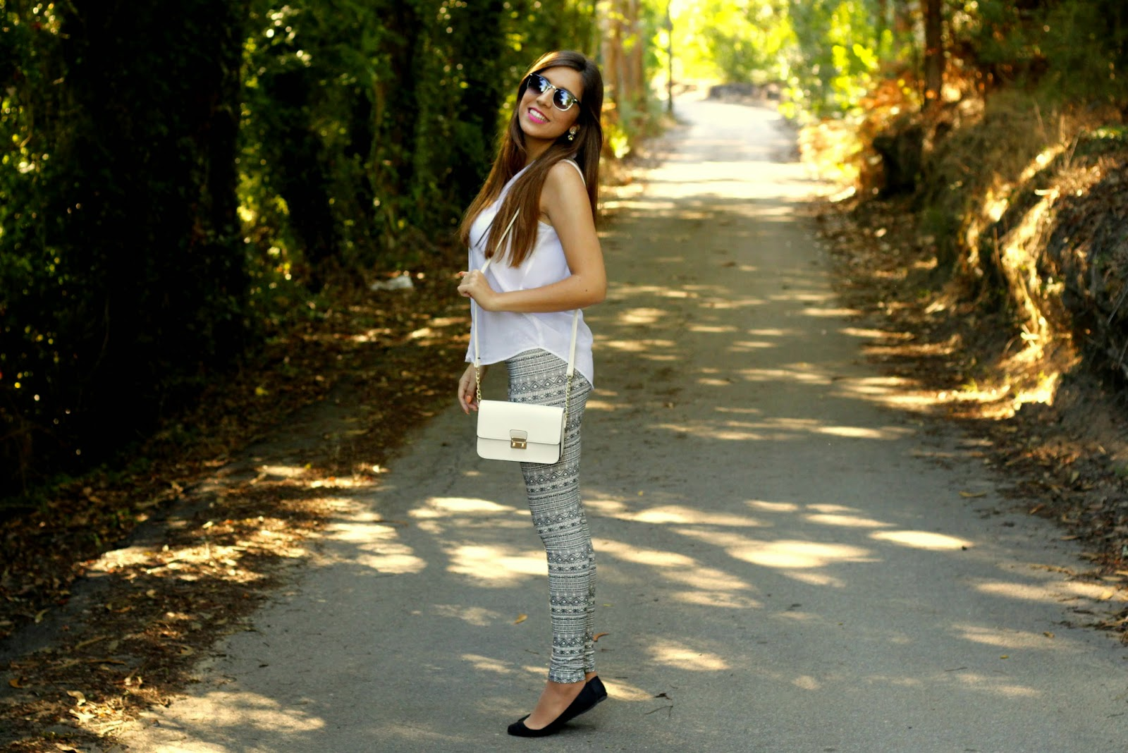 Look outfit black and white