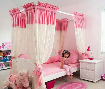 Modern Pink Bedrooms for Girls Rooms, http://dornob.blogspot.com/