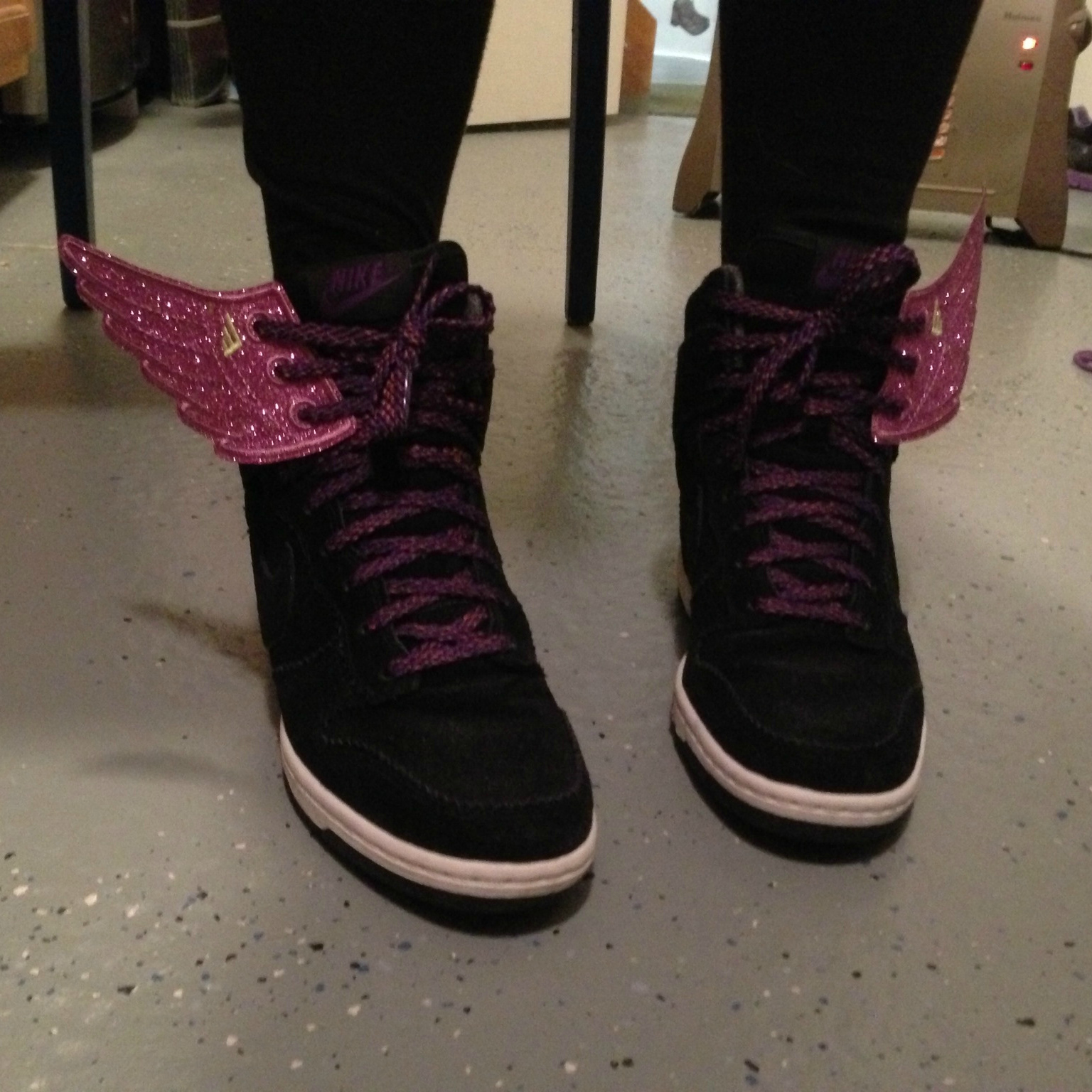 Pink Sparkly Nike Shoes