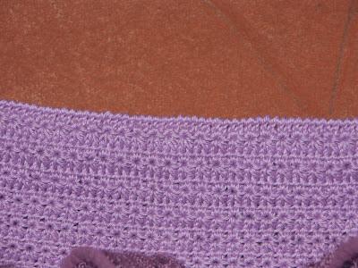 Описание для вязаной детской юбки