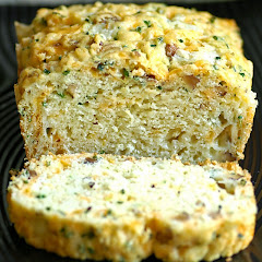 Cheddar Gruyere and Chive Bread