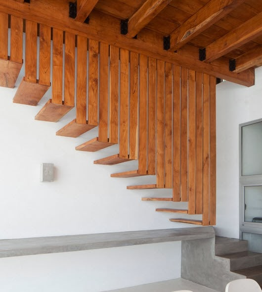 diseo de moderna escalera de madera
