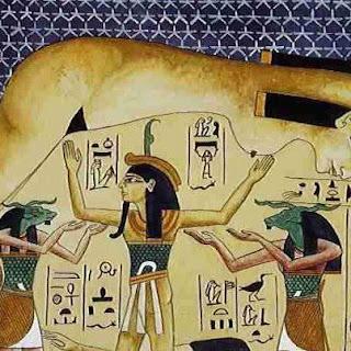تصور الارض والهواء والسماء في وجدان المصري القدبم