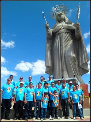 Terço dos Homens de Almino Afonso visita Santuário de Santa Rita de Cássia