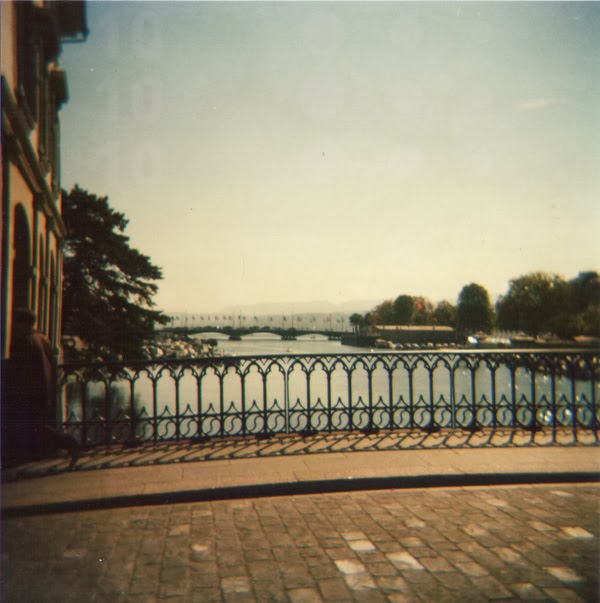Zürich Sommer Münsterbrücke See Zürichsee Münster Brücke