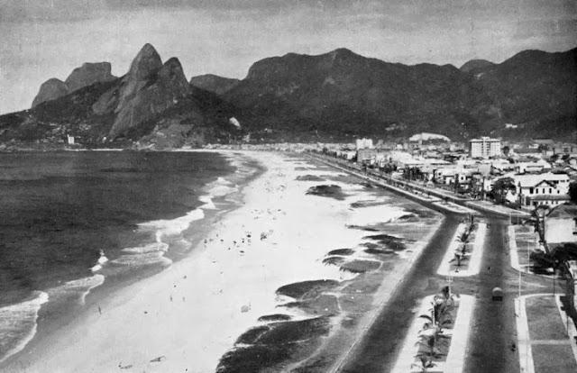 Tour de praias do Rio de Janeiro - Praia de Ipanema na década de 40