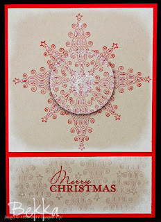 Using Christmas Tree Stamps to make a Star - Clever!  www.feeling-crafty.co.uk